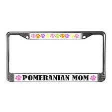 Pomeranian Dog License Plate Frame