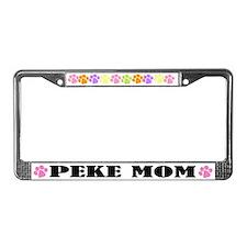 Peke Mom License Plate Frame
