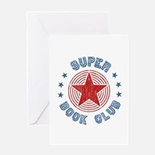 Super Book Club Greeting Card