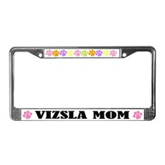 Vizsla Mom Pet License Plate Frame