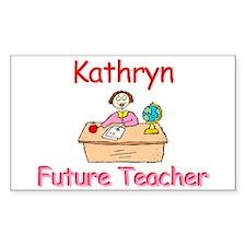Kathryn - Future Teacher Rectangle Decal