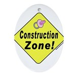 (Baby) 'Construction Zone' Oval Ornament
