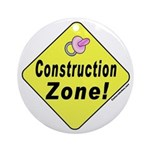(Baby) 'Construction Zone' Ornament (Round)