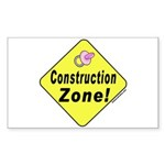 (Baby) 'Construction Zone' Rectangle Sticker