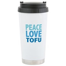Peace Love Tofu Travel Mug