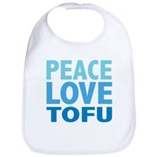 Peace Love Tofu Bib