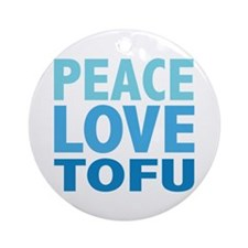 Peace Love Tofu Ornament (Round)