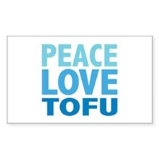 Peace Love Tofu Rectangle Decal
