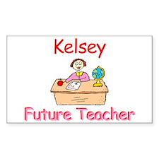 Kelsey - Future Teacher Rectangle Decal