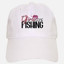Girls Gone Fishing Baseball Baseball Cap