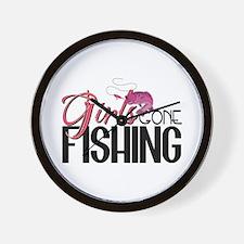 Girls Gone Fishing Wall Clock