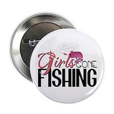 """Girls Gone Fishing 2.25"""" Button"""