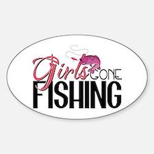 Girls Gone Fishing Sticker (Oval)