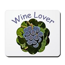Wine Lover Grapes - Mousepad