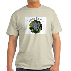 Wine Lover Grapes - Ash Grey T-Shirt