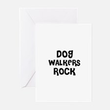 DOG WALKERS ROCK Greeting Cards (Pk of 10)