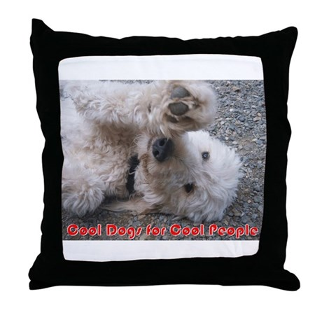 Cool Dogs for Cool People Throw Pillow