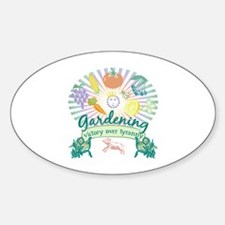 Victory Garden Oval Decal