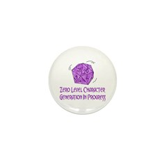 0-Level Character Generation Mini Button (10 pack)