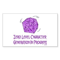0-Level Character Generation Rectangle Decal