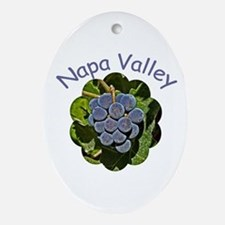 Napa Valley - Gift Ornament/Keepsake Oval