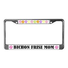 Bichon Frise Mom Pet License Plate Frame