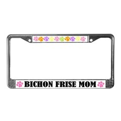 Bichon Frise Mom Pet License Plate Frame