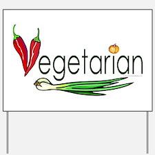 Vegetarian Trio Yard Sign