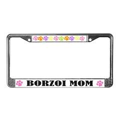 Borzoi Mom Pet License Plate Frame
