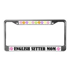 English Setter Mom Dog License Frame