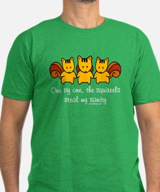 One by one, the squirrels T