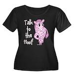 Talk To The Hoof Women's Plus Size Scoop Neck Dark