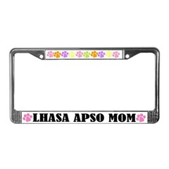 Lhasa Apso Mom Pet License Plate Frame
