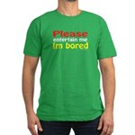 I'm Bored Men's Fitted T-Shirt (dark)