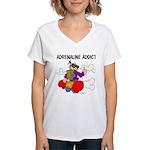 Adrenaline Addict Women's V-Neck T-Shirt