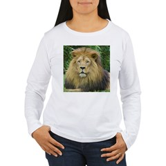 Lion - close up Women's Long Sleeve T-Shirt