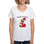 SANTA'S HELPER Women's V-Neck T-Shirt