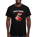 SANTA'S HELPER Men's Fitted T-Shirt (dark)