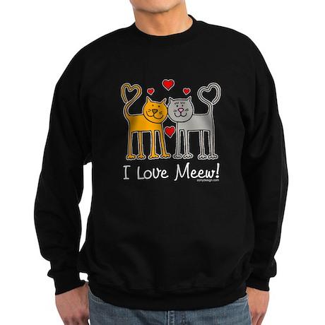 I Love Meew! Sweatshirt (dark)