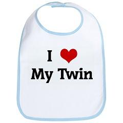 I Love My Twin Bib