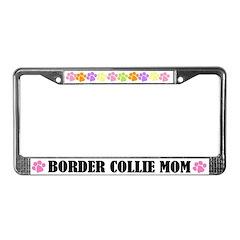 Border Collie Mom Pet License Plate Frame