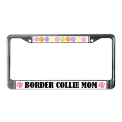Border Collie Mom Pet License Plate Frame