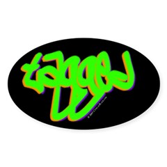 Tagged Oval Decal