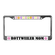 Rottweiler Mom Pet License Plate Frame