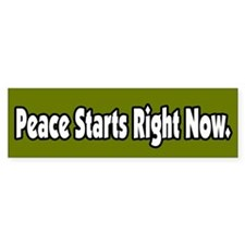 Peace Starts Right Now Peace Bumper Bumper Sticker