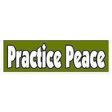 Practice Peace Bumper Car Sticker