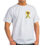 Support our Troops Yellow Ribbon Ash Grey T-Shirt