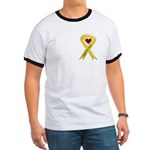 Support our Troops Yellow Ribbon Ringer T