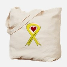 Support our Troops Yellow Ribbon Tote Bag