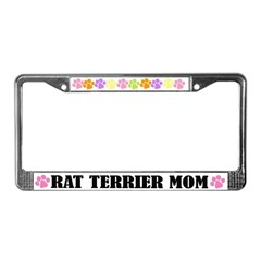 Rat Terrier Mom License Plate Frame